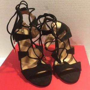 Bongo Women's Black High Heel Sandals Sz 8 1/2